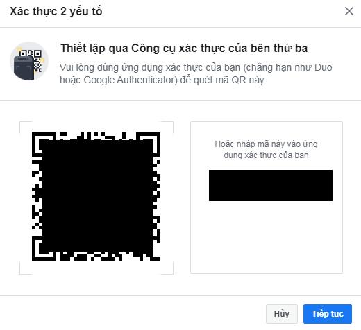 xac thuc 2 yeu to bao mat facebook