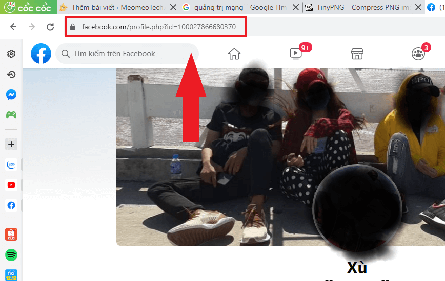 thay đổi link facebook trang cá nhân