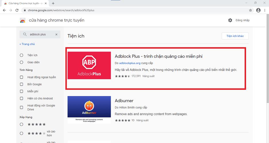 xem youtube không quảng cáo bằng Adblock Plus